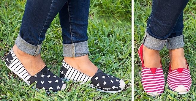 Stripe & Stars Canvas Shoes