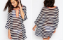 Striped Chiffon Cover Up