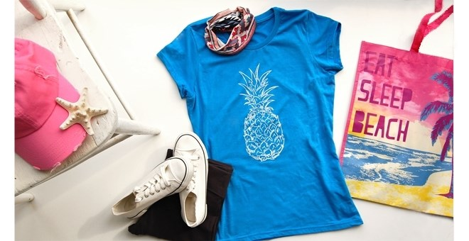 Trendy Pineapple T Shirt