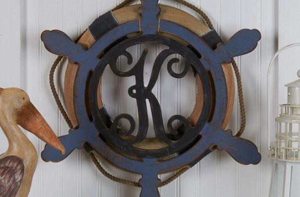 Unfinished Ships Wheel Monogram