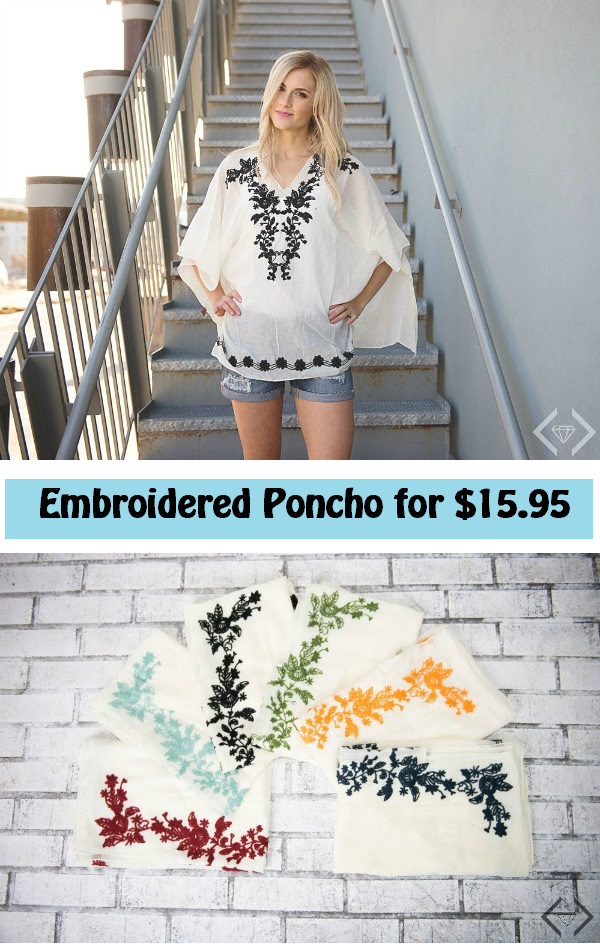 cents of style embroidered poncho