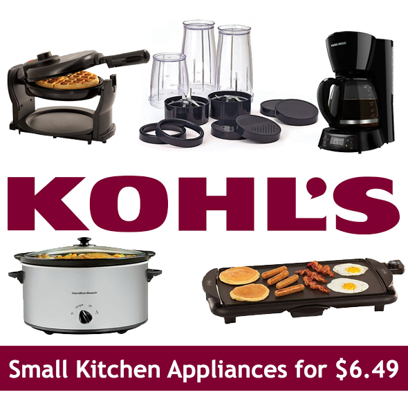 hot* small kitchen appliances for $6.49 after rebate & kohl's cash