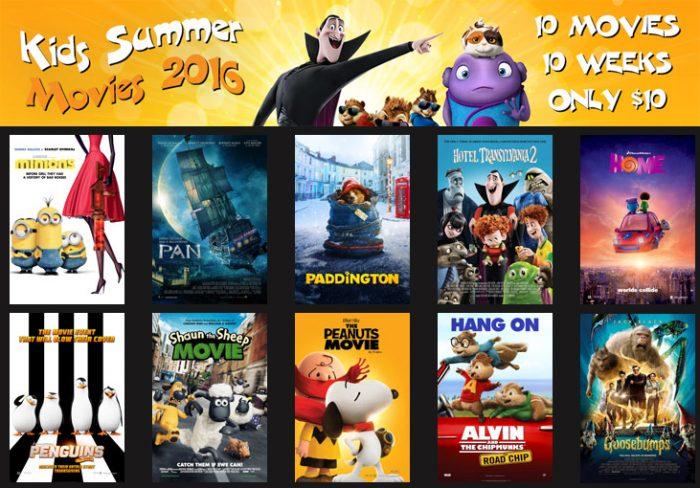 megaplex kids summer movies