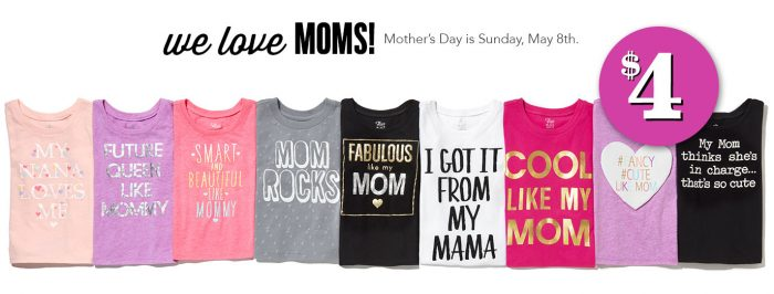 mothers day tees children's place