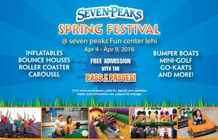 Seven Peaks Spring Festival At Lehi Fun Center Free For