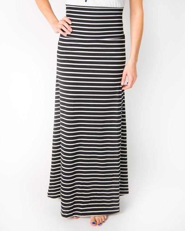 striped maxi skirts