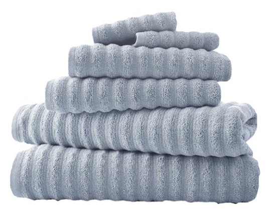 6-Piece Luxury Spa Collection Wavy Quick-Dry Towel Set