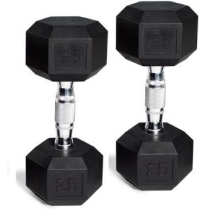 CAP Barbell Rubber-Coated Hex Dumbbells Starting At $7.99 For A Set of 2!