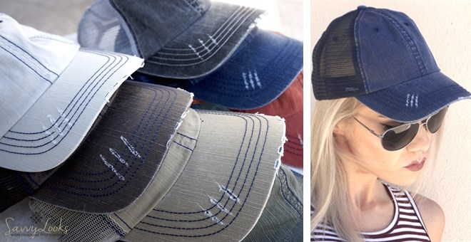 Herringbone Washed Hats