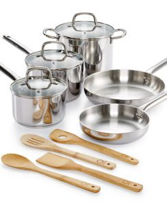 Martha Stewart Collection 12-Pc. Stainless Steel Cookware Set