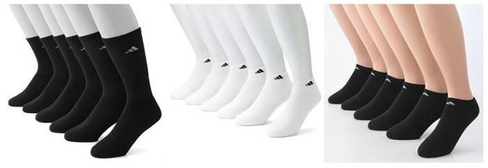 Men's 6-Pack Adidas Climalite Socks