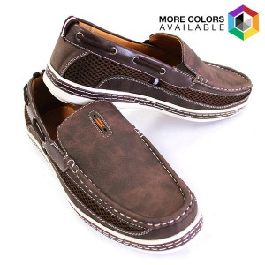 Men's Nautical-Inspired Casual Genuine Leather Slip-On Loafers $24.99 (Reg. $89)