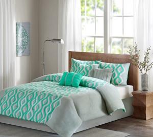 Modern Mint 7 Piece Comforter Set