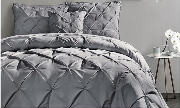 Pintucked Comforter Set