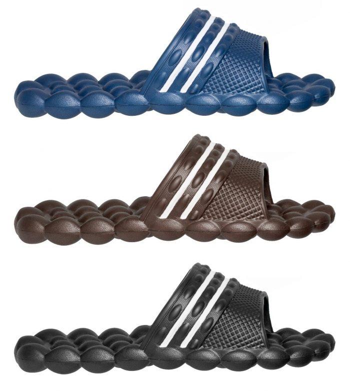 Swiss Wear Deluxe Comfort Solarsoft Massage Slippers Slides