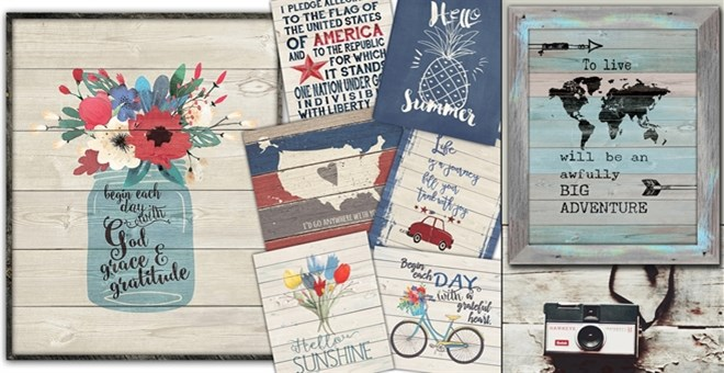 USA Rustic Market Prints