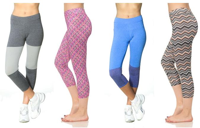 Women's Printed Capri-Length Leggings