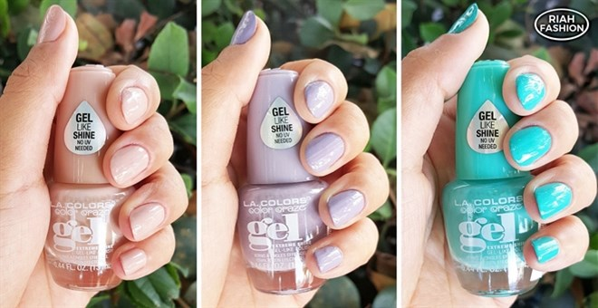 la colors instant dry gel nail polish