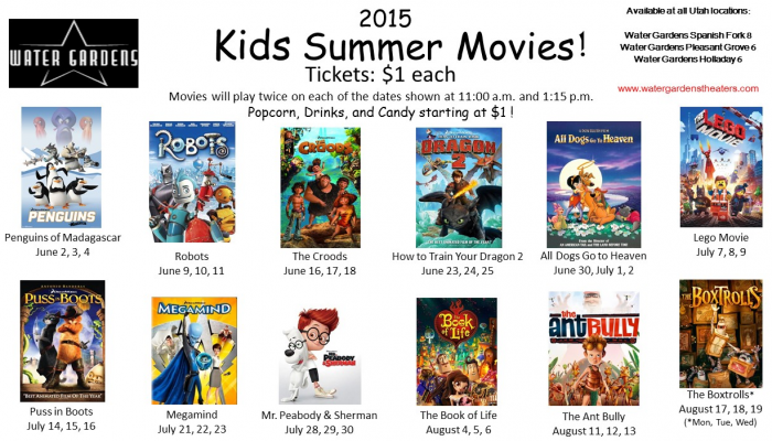 water gardens summer movies