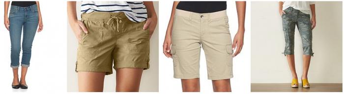 womens shorts and carpis