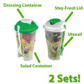 2 Pack of Salad To Go Sets