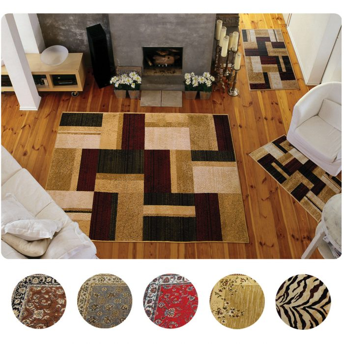 3 Piece Set Modern or Traditional Area Rugs