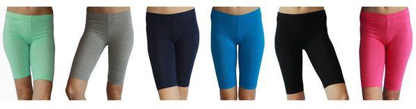 6 Pack Women's Basic Biker Shorts