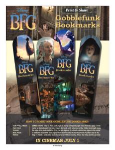 BFG bookmarks