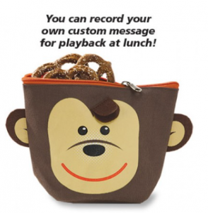 Children's Snack Bag with Voice Recorder