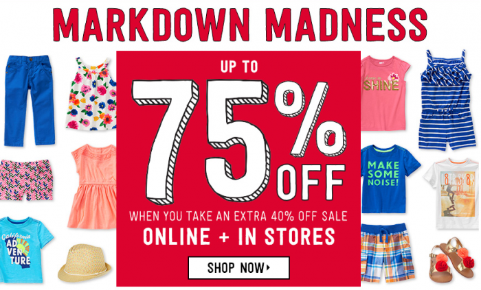 Crazy 8 free shipping markdown madness