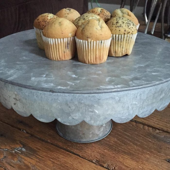 Farmhouse Style Galvanized Metal Cake Stand For 19 99