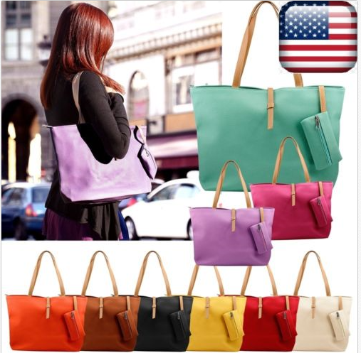 Faux Leather Fashion Messenger Handbag