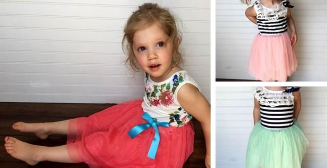 Floral & Stripe Tutu Dresses