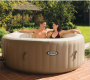 Intex Pure Spa 4-Person Inflatable Portable Heated Bubble Hot Tub