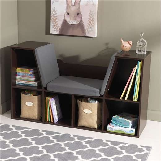 KidKraft Children's Bookcase with Reading Nook and Cushions
