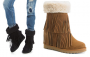 Madden Girl Sleet Women's Fringe Wedge Boots