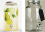 Mason Jar Beverage Dispenser with Chalkboard Label Tag