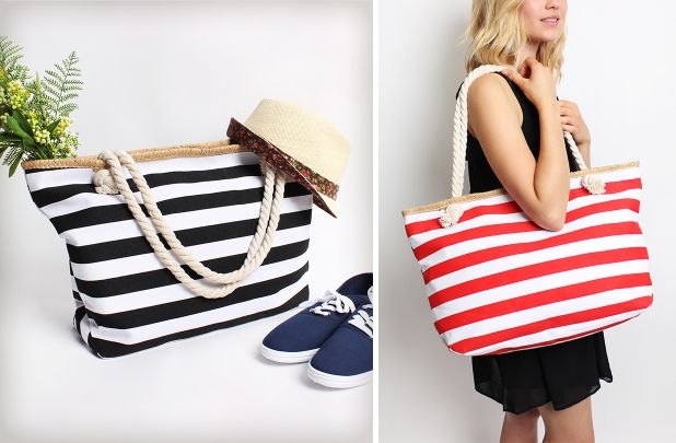 Popular Stripe Tote Bag