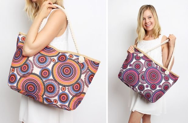 Popular Tribal Print Tote - 4 Colors!