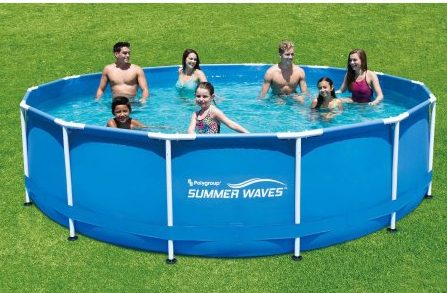 10 x 30 round metal frame above ground swimming pool for for Summer waves above ground pool review