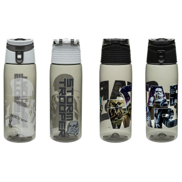 Zak Designs Star Wars Tritan Plastic Water Bottle w Flip-Top Cap