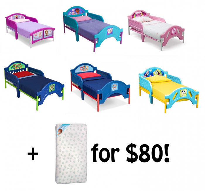 Character Toddler Bed Plus Mattress For 80 Shipped