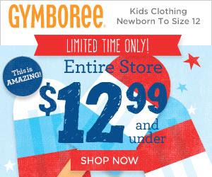 gymboree 12.99 and under