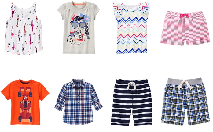gymboree shorts & tees