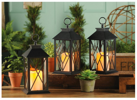 i love outdoor lanterns on a patio and these ones are especially gorgeous better yet they come with the flame less candle the candles can cost 10 alone - Decorative Lanterns