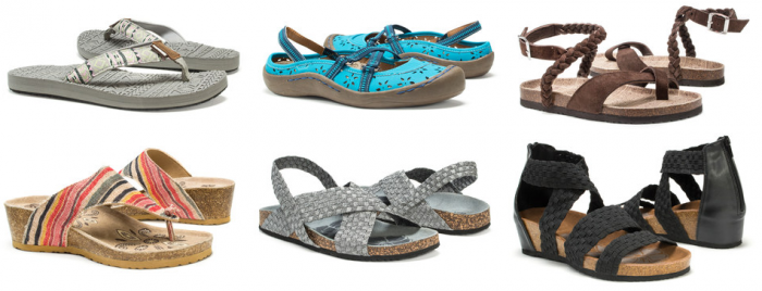 muk luks summer shoes and sandals