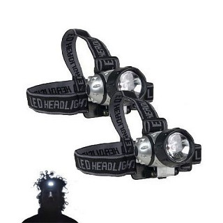 FREE - 2 Pack of Super Bright LED Head Lamps