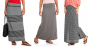 Faded Glory Women's Fashion Maxi Skirt with Shirred Waistband