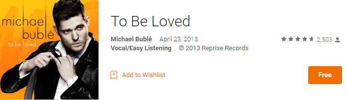 Michael BubleTo Be Loved