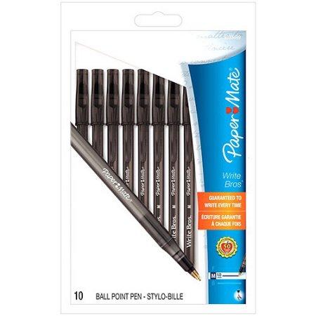 Paper Mate Write Bros. Stick Medium Tip Ballpoint Pens, 10pk